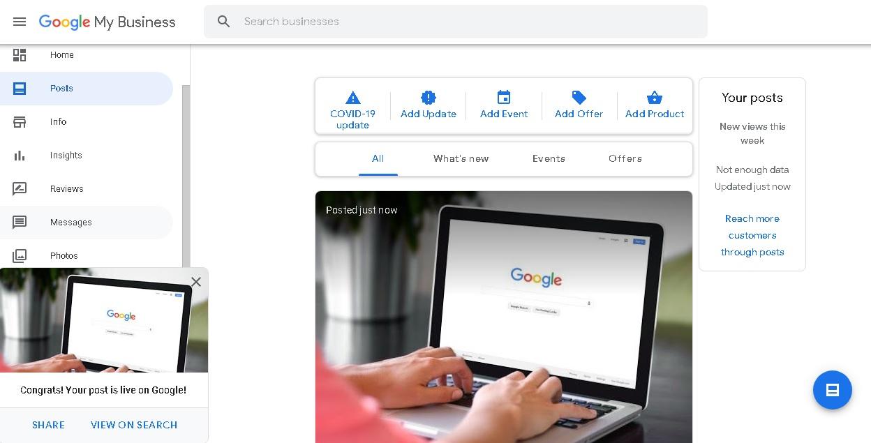 Оптимизация Google My Business